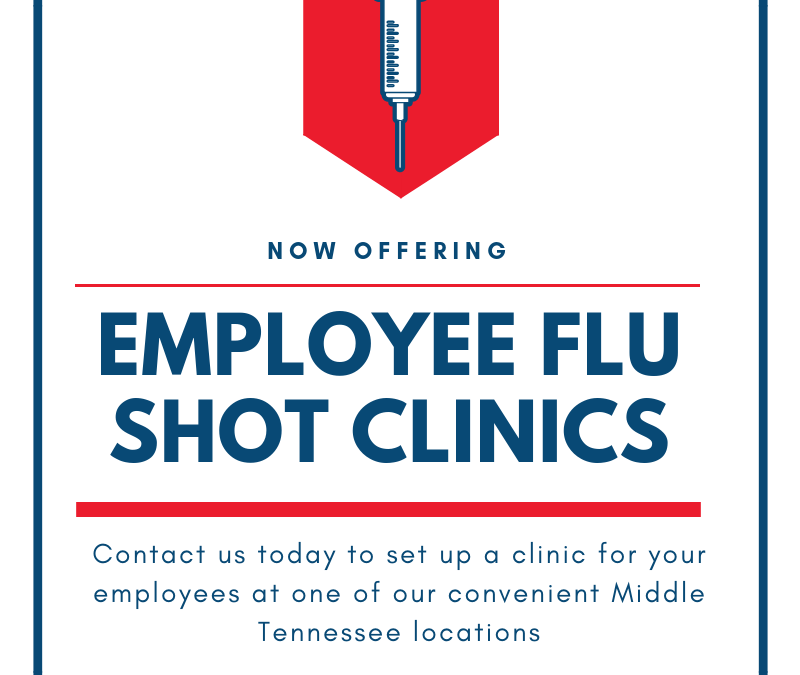 Employee Flu Shot Clinics Now Available!