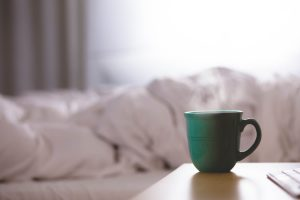 mug on bedside table - flu prevention and treatment